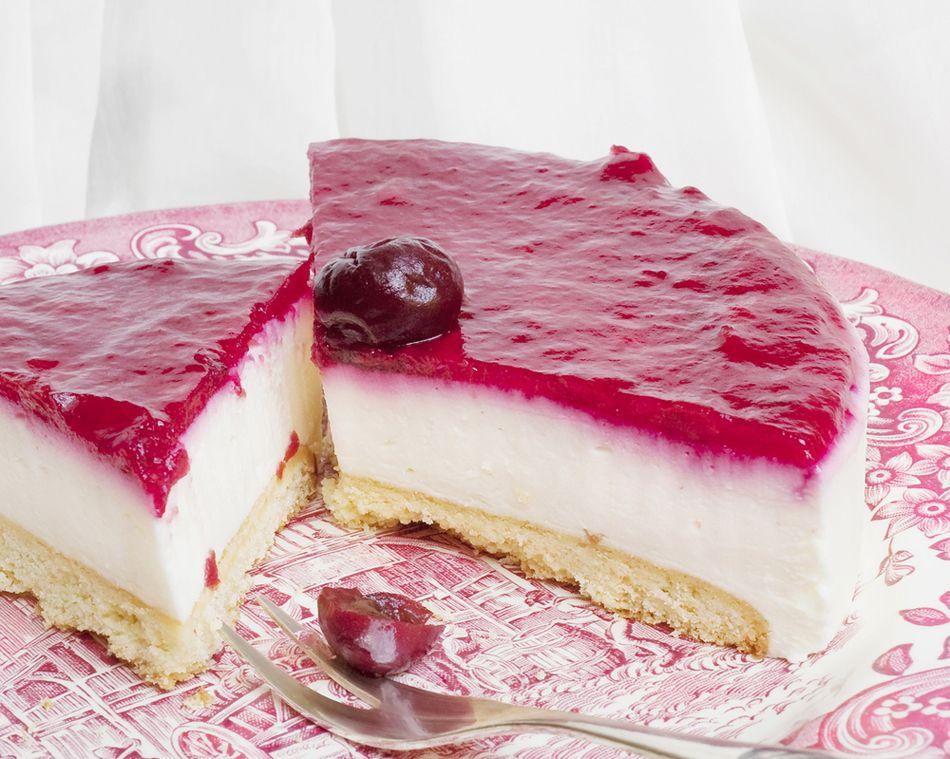 تشيز كيك بارد بالجيلي Recipe Food Arabic Food Cheesecake