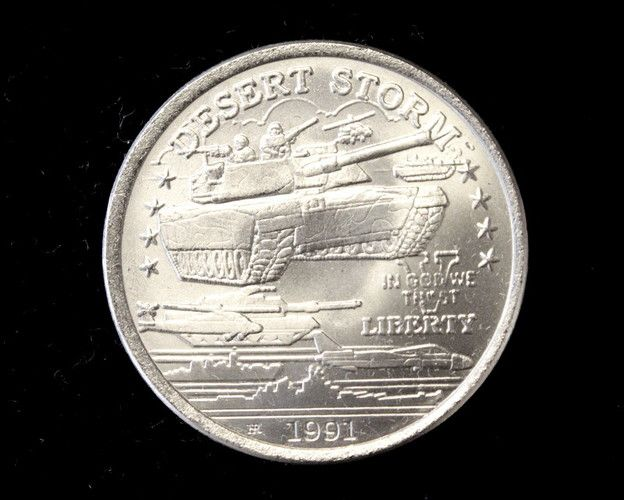 """1991 Uncirculated Desert Storm """"M1 Abrams Tank"""" Commemorative Coin from the New Queensland Mint!. Starting at $19"""