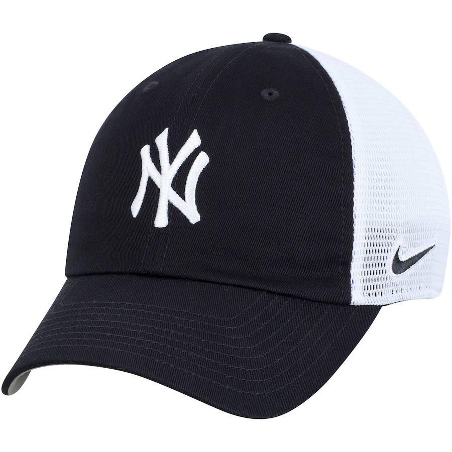 neues Erscheinungsbild Original kaufen großer Rabattverkauf Men's New York Yankees Nike Navy/White H86 Trucker ...