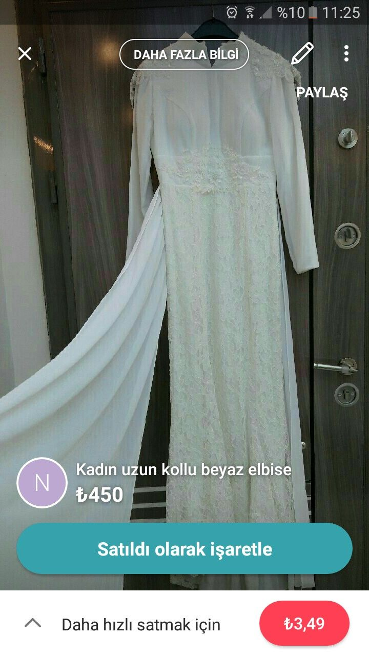 Photo of Wedding dress hijab