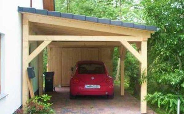photo réalisation appentis bois Carport Pinterest Car ports