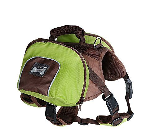 Pettom Waterproof fold able Dog Backpack Day Pack Adjustable Saddle ...