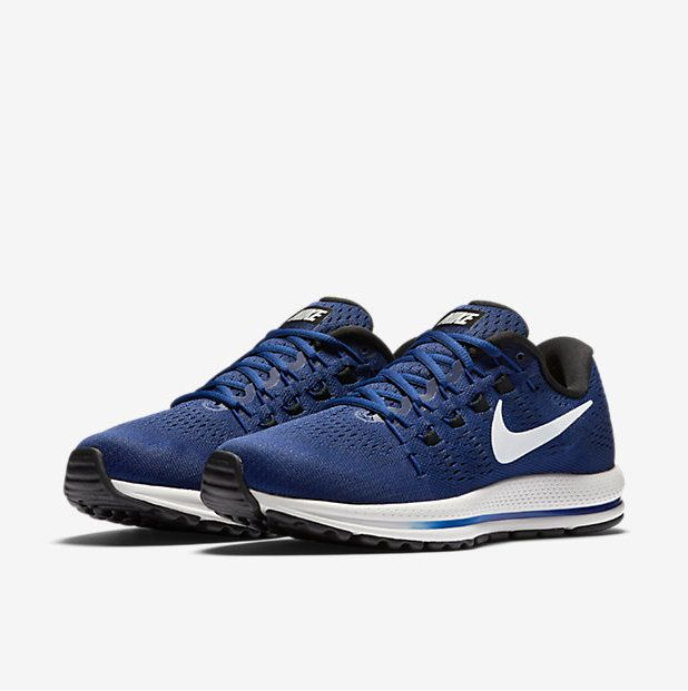 0fcdb7834e11 Spring Summer 2018 Original NIKE AIR ZOOM VOMERO 12 MENS RUNNING SHOE Deep  Royal Blue Black Summit White 863762 401