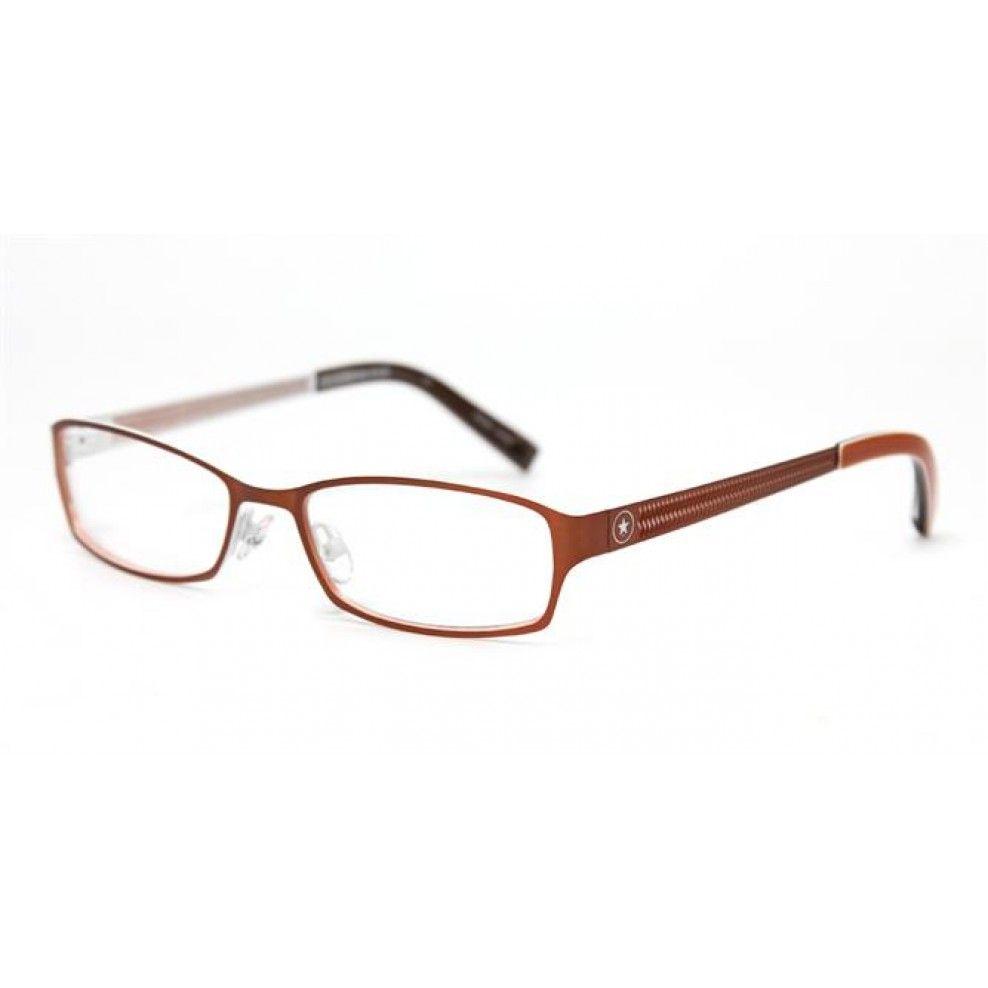 Converse Eyeglasses Ripper Orange Clear   Metal Frame Eyeglasses ...