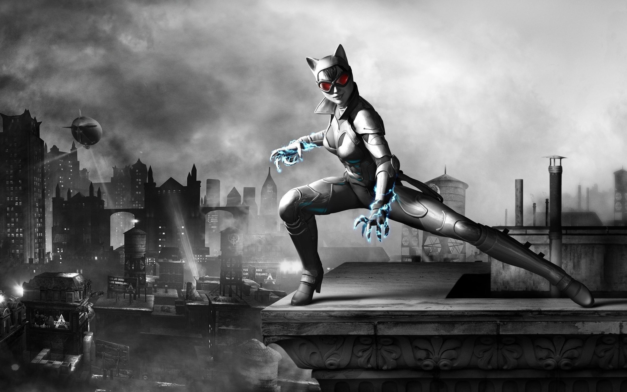 High Definition 2560x1600 Batman Arkham City Game Catwoman Hd Background Wallpaper Walkthrough Riddles
