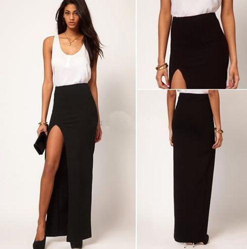d36aecd03 falda larga sexy para fiesta eventos envío gratis 2363