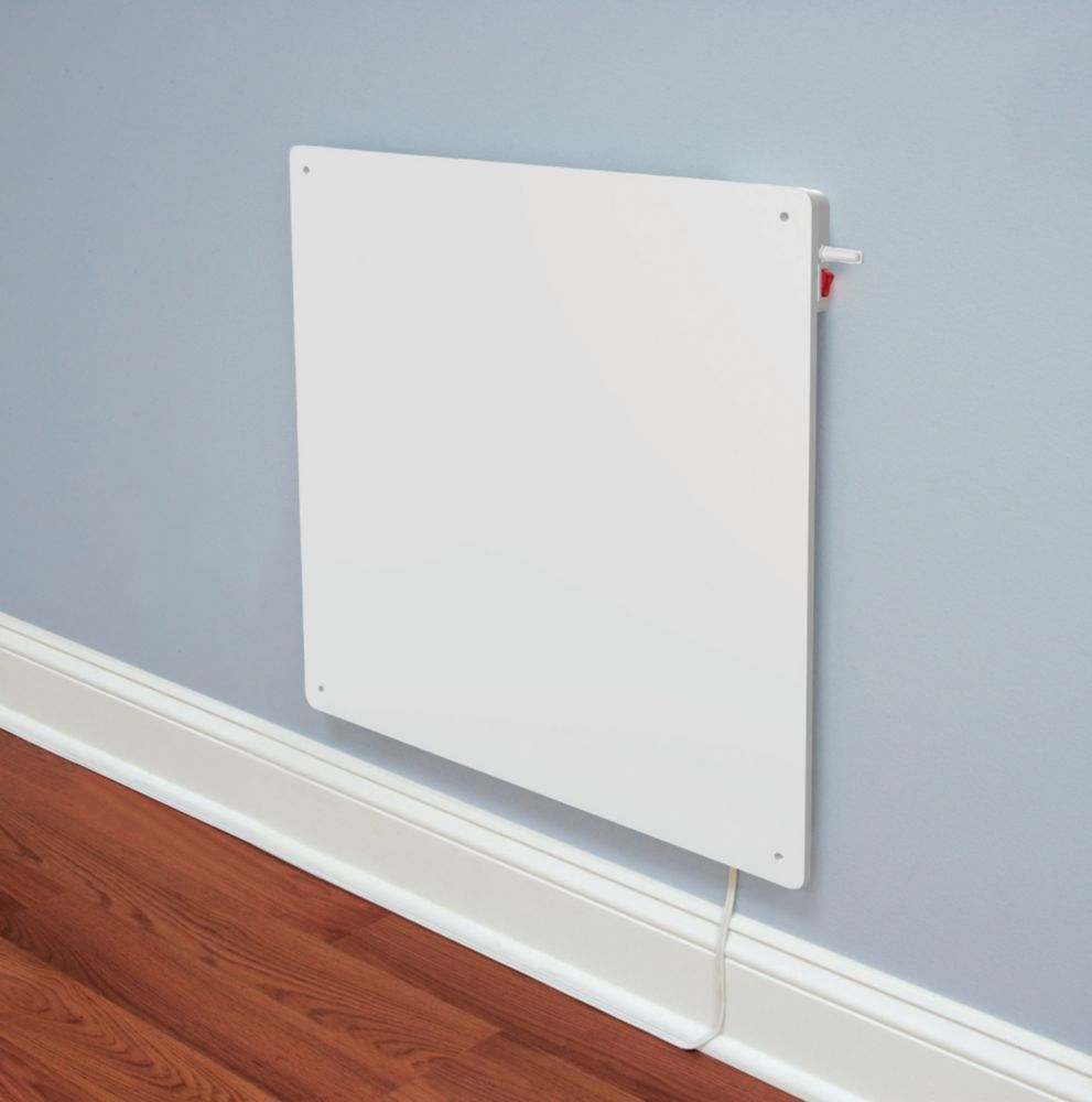 Ceramic 400W Wall-Mounted Panel Heater With Built in Thermostat ...