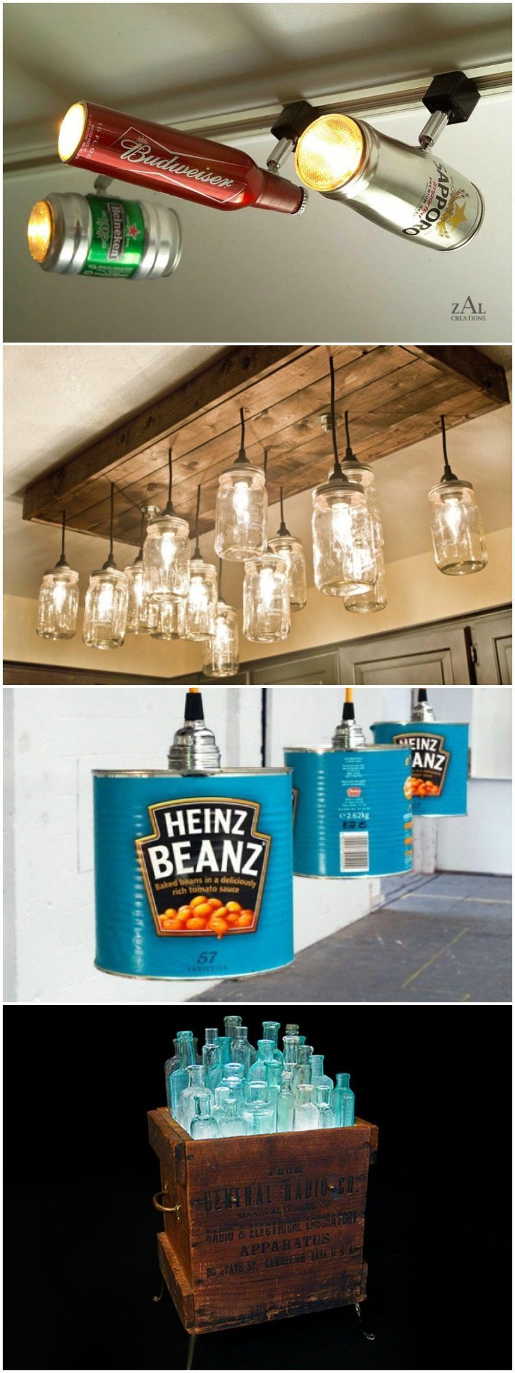 15 ideas to recycle your kitchen tool into Table Lamp! - #TableDeskLamps #Bottle…