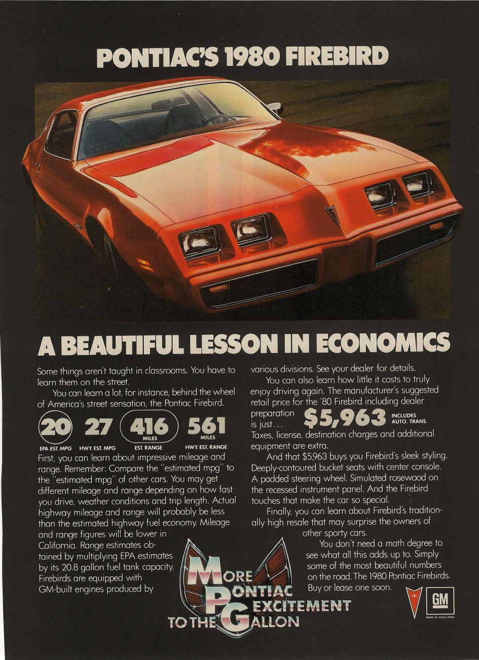 Pontiac Formula  Brochure  Google Search  Retro Car Ads
