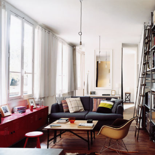 i have to have white walls with colored furniture and wood floors...its a must