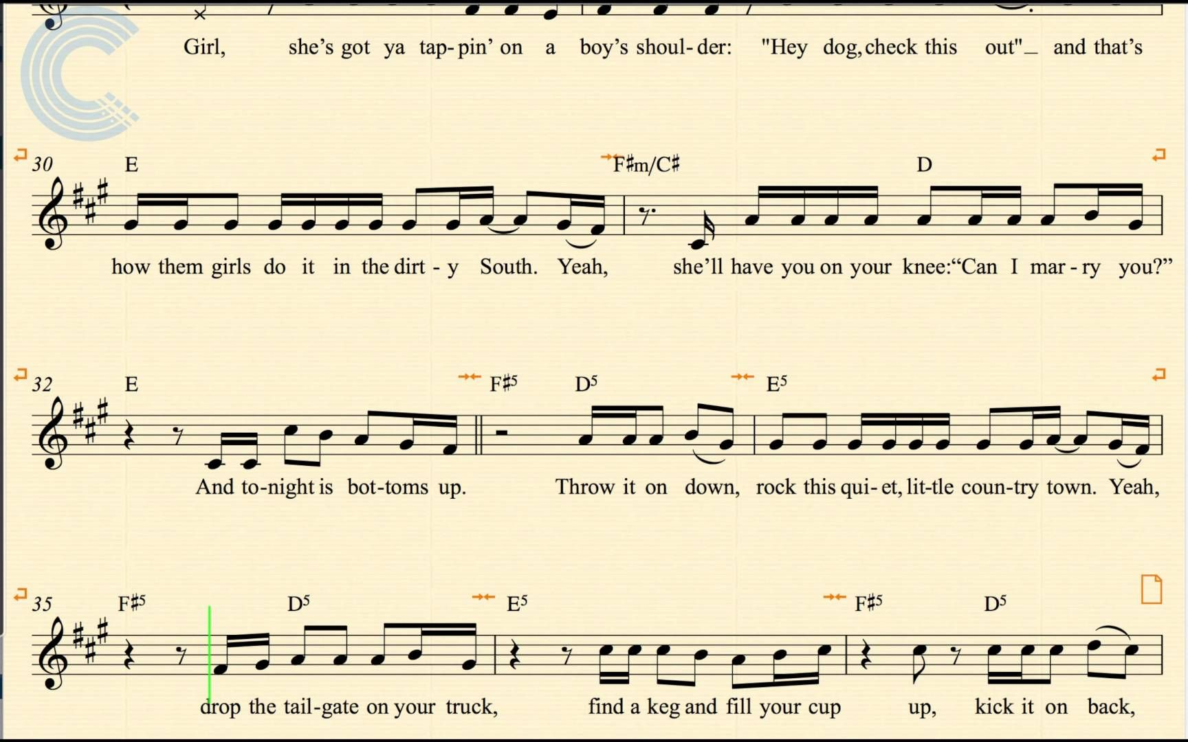 Beautiful Bottoms Up Chords Photo Beginner Guitar Piano Chords