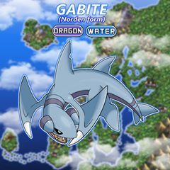It's time for Gible to evolve! Here's Gabite, Norden Form