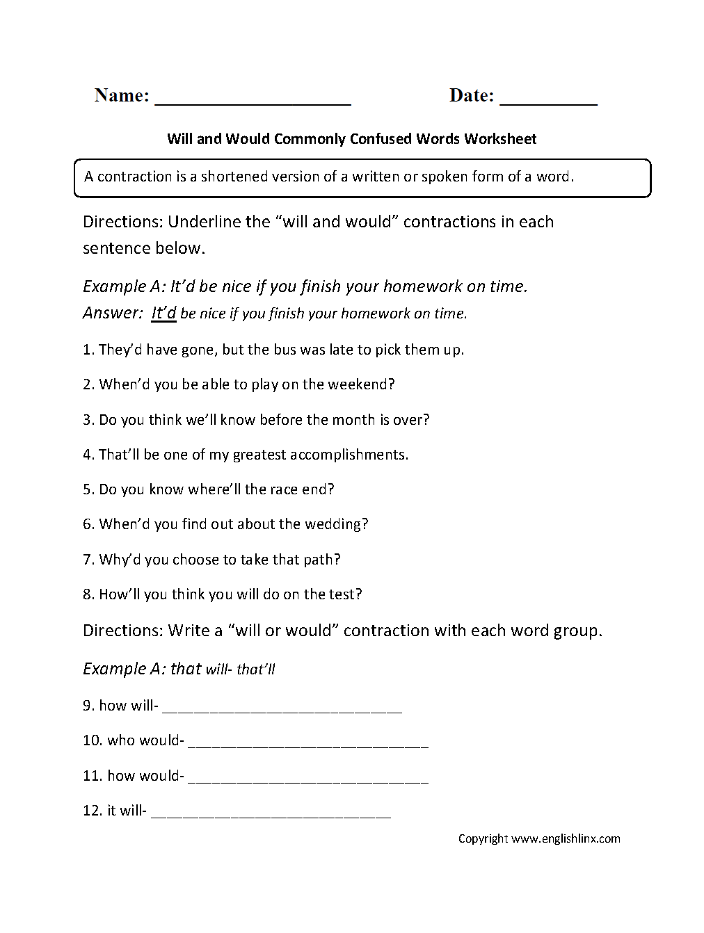 Will And Would Commonly Confused Words Worksheets Commonly Confused Words Word Usage Words [ 1342 x 1012 Pixel ]
