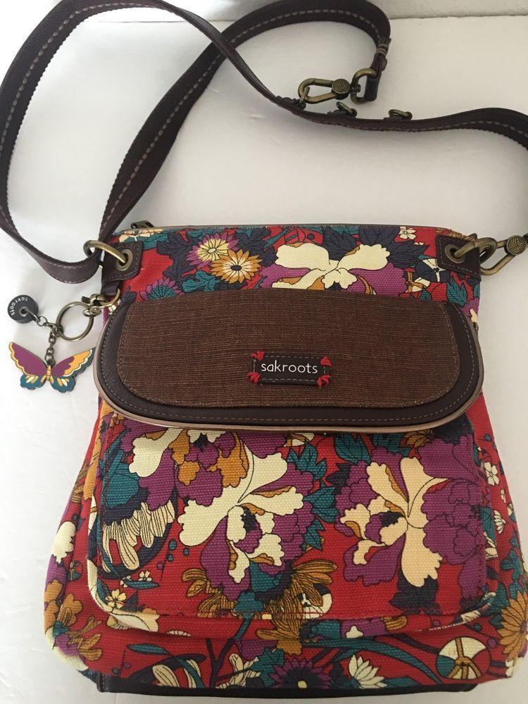 Sakroots Bag Crossbody Messenger Floral Designer Fashion Hip Trendy  #Sakroots #MessengerCrossBody