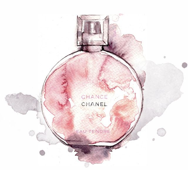 A Scent With Images Perfume Art Watercolor Fashion Chanel