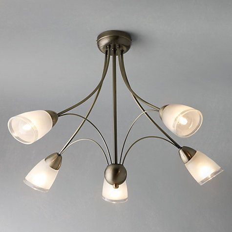 Buy John Lewis Mizar Ceiling Light 5 Arm Antiqued Brass Online At Johnlewis