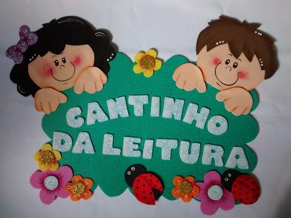 Artesanato Pernambuco ~ Cantinho da Leitura em EVA Crianças Aula, Escolares y