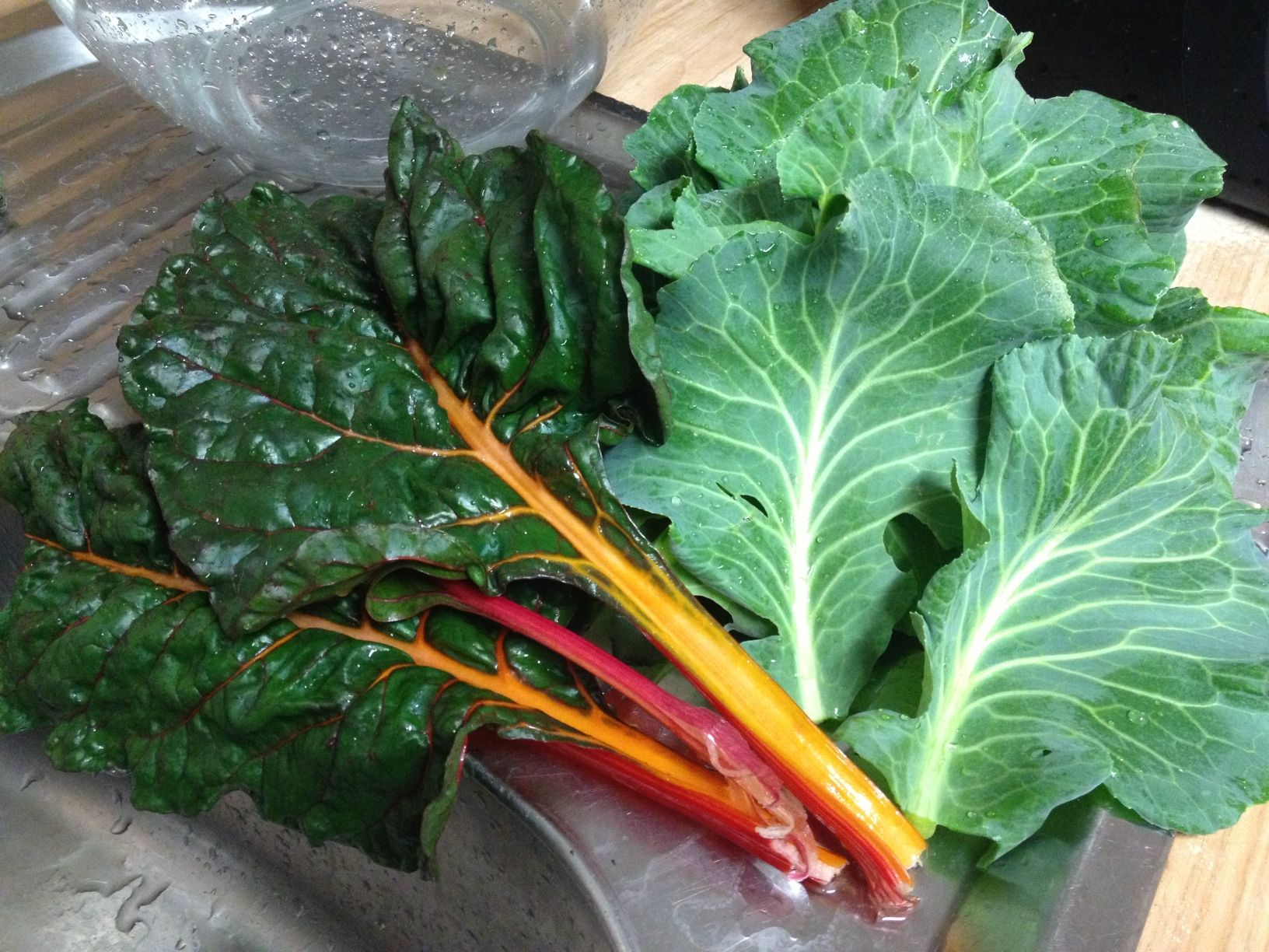 Clean Chard & Cabbage 1/1/13