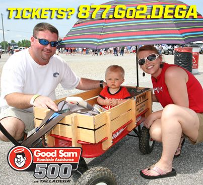 There's something for everyone at Talladega Superspeedway! Bring the family out to the Good Sam Roadside Assistance 500! Kids 12 and under are FREE in the Allison Grandstand for BOTH Saturday and Sunday!    THIS IS MORE THAN A RACE...    Call --> 877.Go2.DEGA