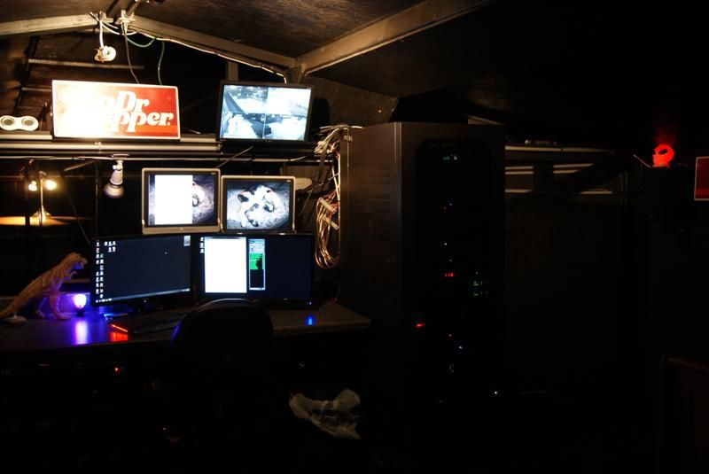 The control loft of the Party Barn