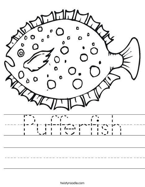 Pufferfish Worksheet Worksheets Puffer Fish Transportation Worksheet