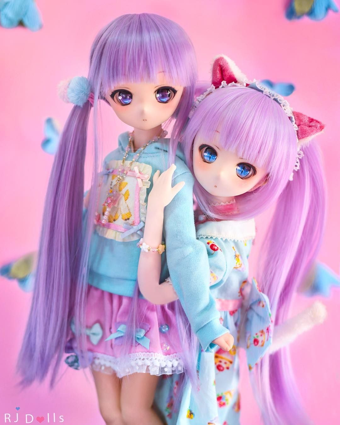 Sandy Candy The Pastel Sisters ᗜ Candy Is Showing How An Adorable Cat She Is She Has A Cat Ears And Also A Tail Cute Dolls Anime Dolls Beautiful Dolls