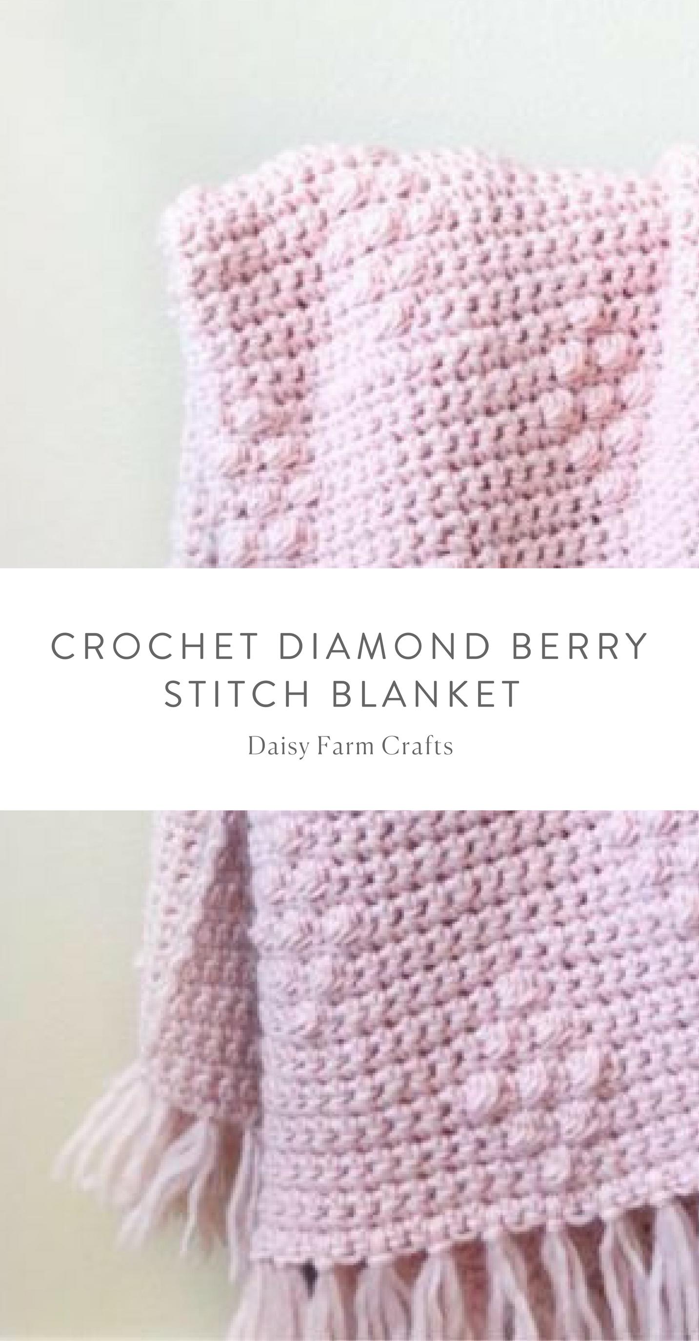 Free Pattern - Crochet Diamond Berry Stitch Blanket | CROCHETING ...