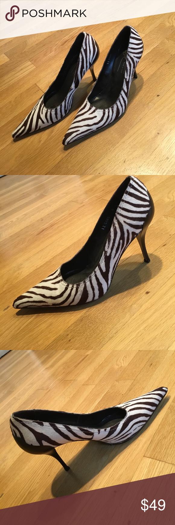 Donald J Pliner Zebra Print Heels Size 8 Zebra Print Heels Heels Zebra Print