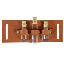 Steampunk Utility Belt Add-On - Triple Vial Slide - might be easy to make, but at only $12 I'd just buy it
