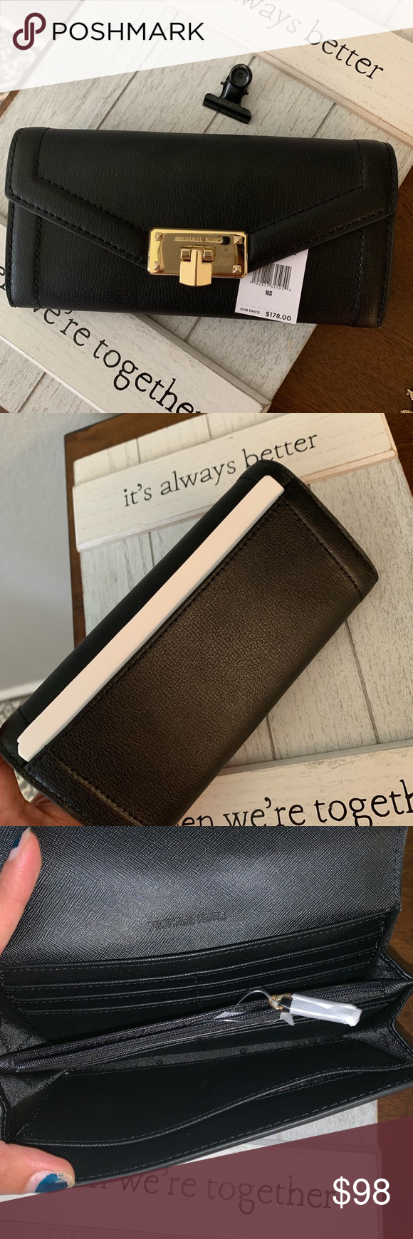 New MK wallet full size 🖤 Beautiful leather MK wallet new ...