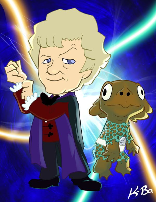 3rd Doctor and a Sea Devil.  #kevinbolk