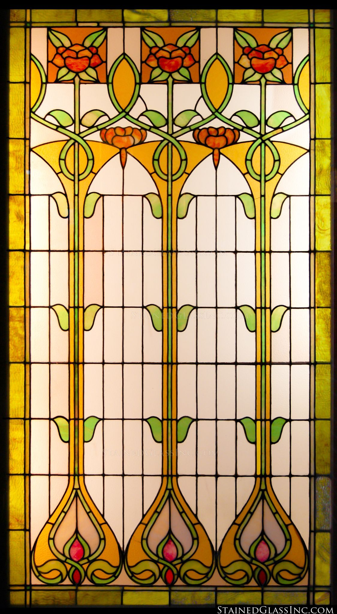 Art Nouveau Stained Glass  Google Search