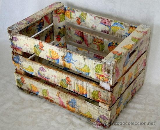 Resultado de imagen de cajas de fruta de madera decoradas cajas