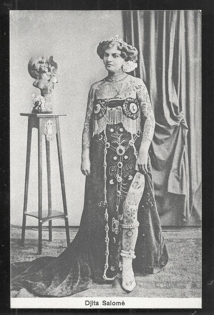Miss Djita Salome Tattoo Arms Legs Circus ca 1910 | Minifashion ...