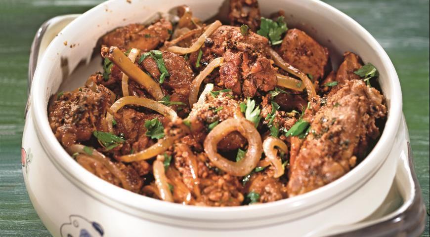 Гурули, грузинское блюдо из курицы, пошаговый рецепт с ...