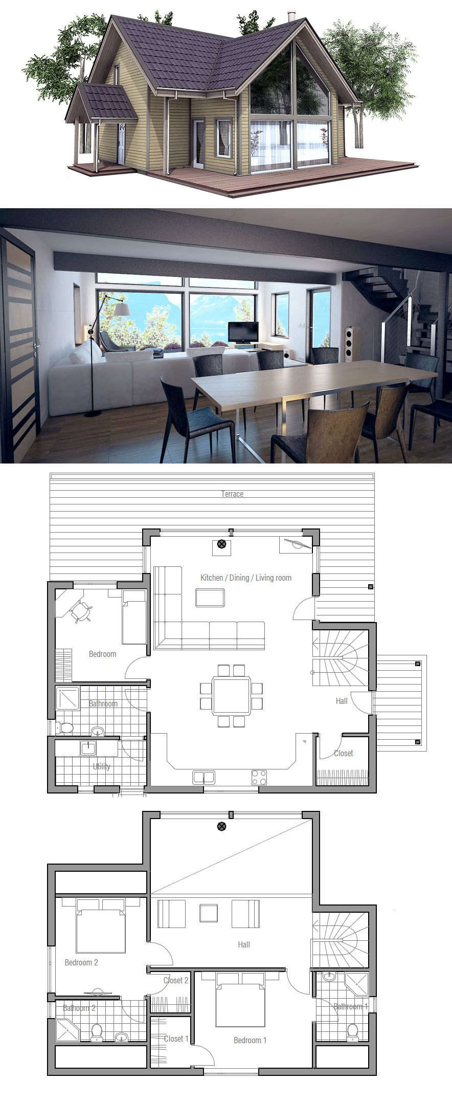 Scandinavian Design Swedish Design Litet Hus Hus Plan Small House House Plans Small House Plans