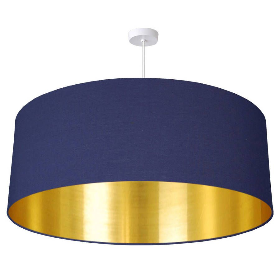 Oversize brushed gold lined ceiling pendant shade ceilings oversize brushed gold ceiling shade by quirk notonthehighstreet mozeypictures Image collections