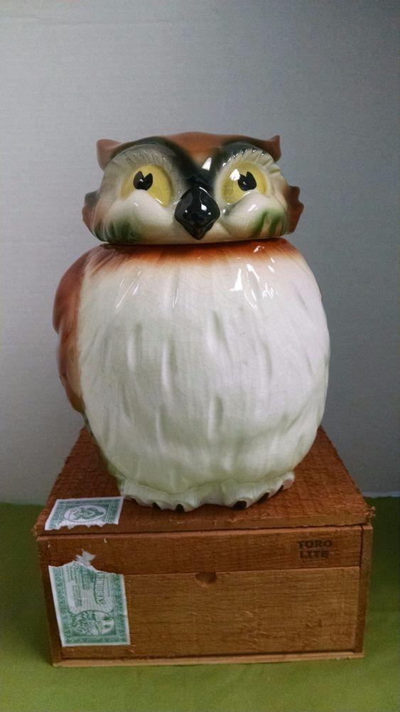 1950'S Cookie Jars Magnificent Vintage Mid Century Owl Cookie Jar Signed And Dated 60 Owl