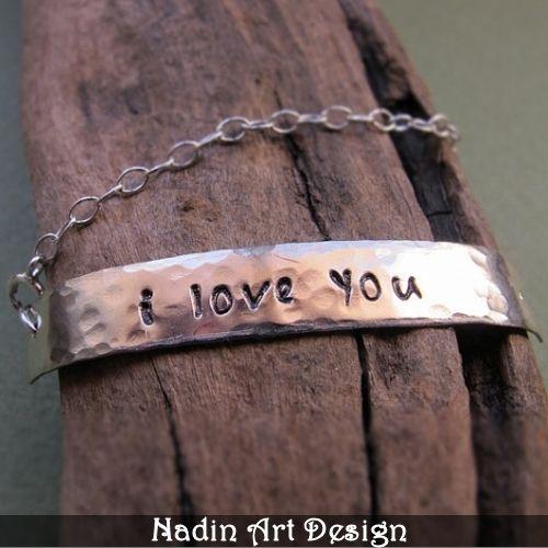 Eingraviert Namensarmband - Handgemachter Schmuck von NadinArtDesign auf DaWanda.com