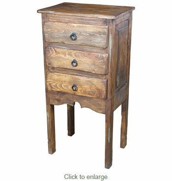 Rustic Wood Tall Nightstand 3 Drawers In 2019 Stuff And Things