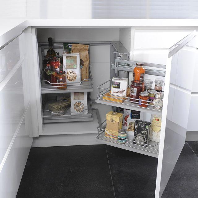 rangement d'angle coulissant magic corner - castorama | office ... - Meuble De Cuisine D Angle
