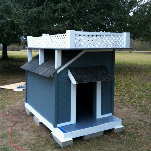 2 Story Dog House Made For Roxy Dog Spaces Dog House Dog Houses