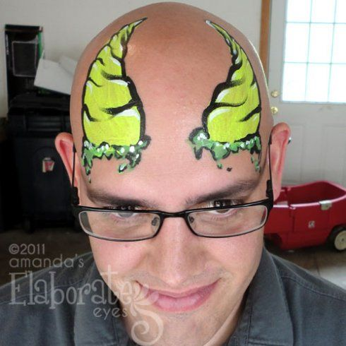 bald man face art must try pinterest bald man face paintings