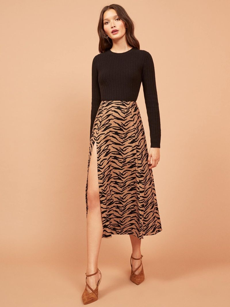 c40e91b0ee75 Wild Thing: 7 Animal Print Styles From Reformation | Skirts ...