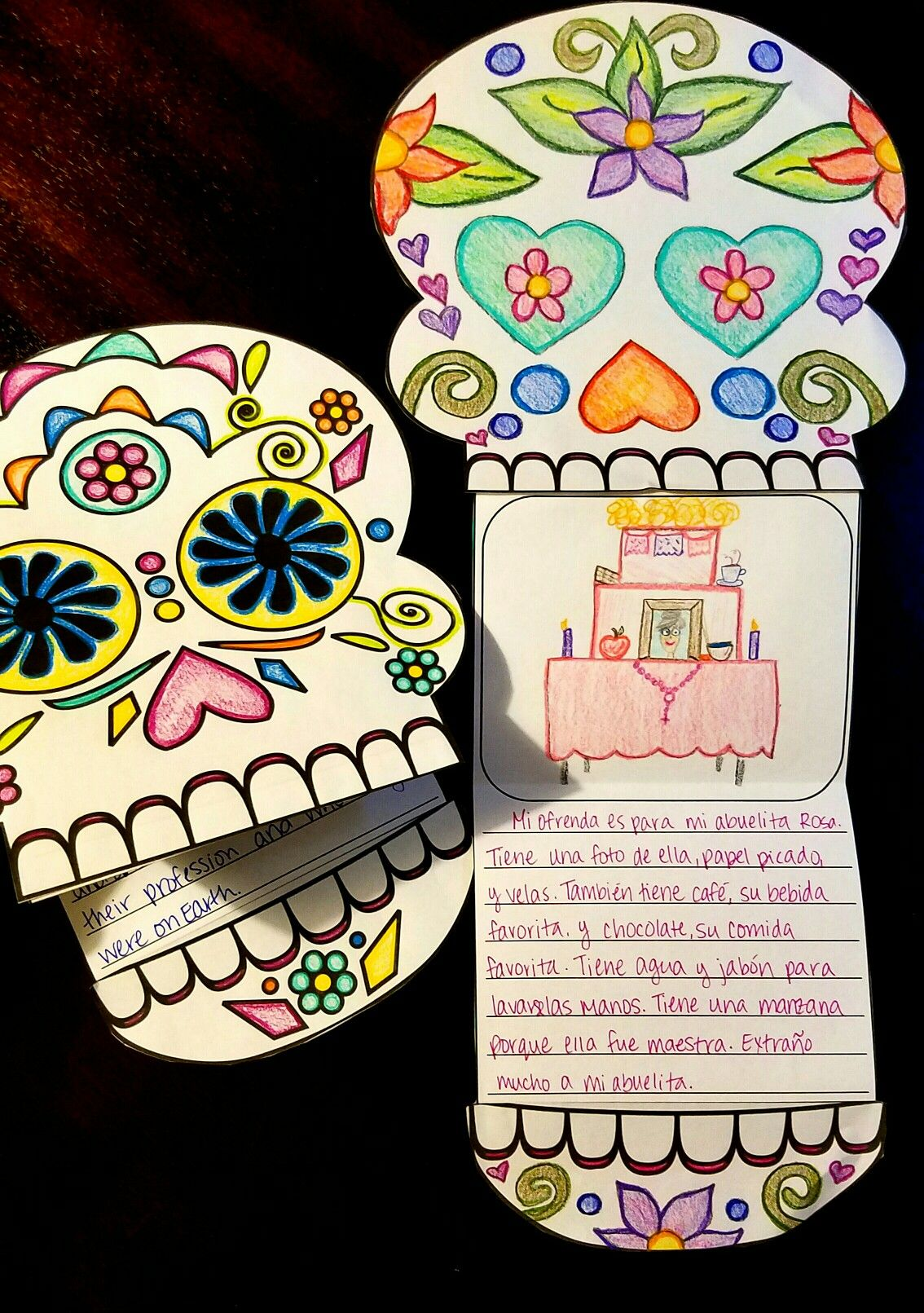 d atilde shy a de los muertos day of the dead writing template dia de writing template for datildeshya de los muertos day of the dead after students learn about