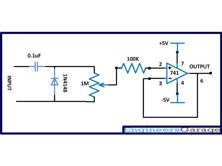 Circuit Diagram Of Positive Clamper With Buffer Electronic