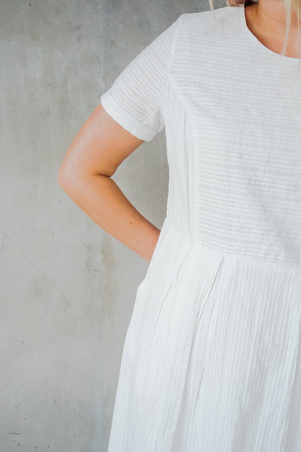 Delicate white dress beherenowclothing chanroberson