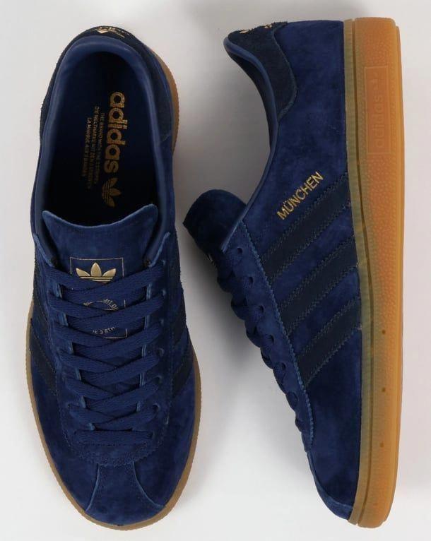 Adidas Munchen Trainers Blue, Navy, Rich, originals,mens ...