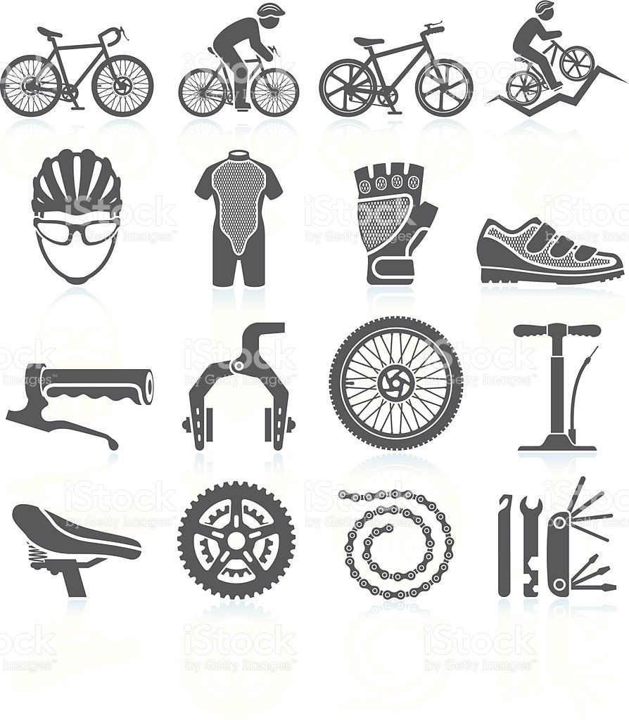 Cycling Racing Black And White Royalty Free Vector Interface Icon