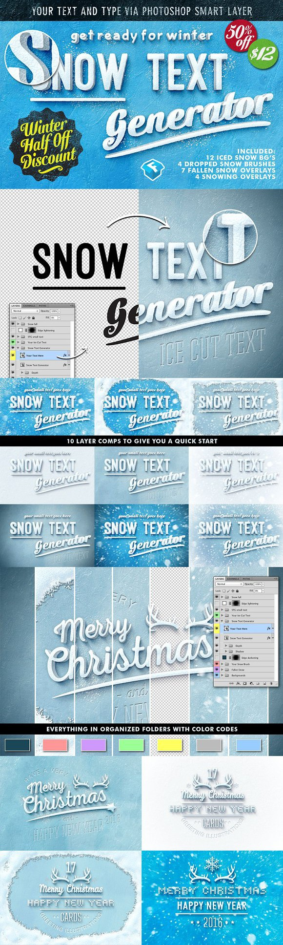 50 off snow text generator layer styles layer styles pinterest